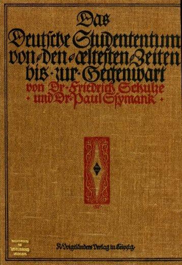 Das deutsche Studententum von den ältesten Zeiten bis zum ...