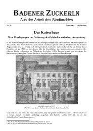 Nr. 35, Das Kaiserhaus - Baden