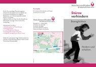 Stürze verhindern - Niels-Stensen-Kliniken