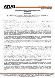 Allgemeine Bedingungen für Lieferungen und Leistungen - ATLAS ...
