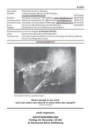 Das Stockhorn Heft 6/2011 - SAC Stockhorn