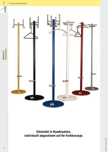 G Edelstahl in Kombination, individuell abgestimmt auf Ihr Farbkonzept.