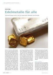 Auvesta Edelmetalle AG - Roderick v. Wolffersdorff