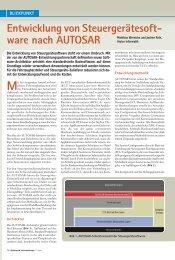 Entwicklung von Steuergerätesoftware nach AUTOSAR - Vector