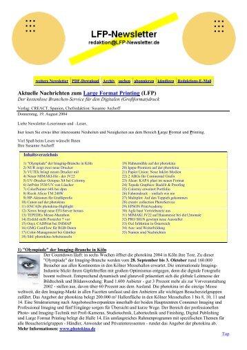 Aktuelle Nachrichten zum Large Format Printing (LFP) - Creact.com