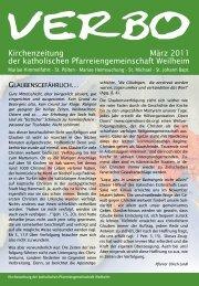 Kirchenzeitung März 2011 der katholischen Pfarreiengemeinschaft ...