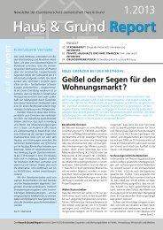 Haus & Grund Report - Haus & Grund Bayern