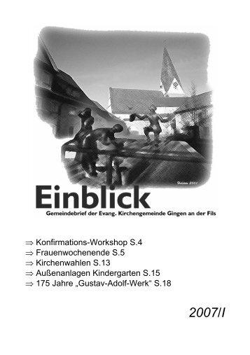 Predigtgottesdienst am - Evangelische Kirchengemeinde Gingen