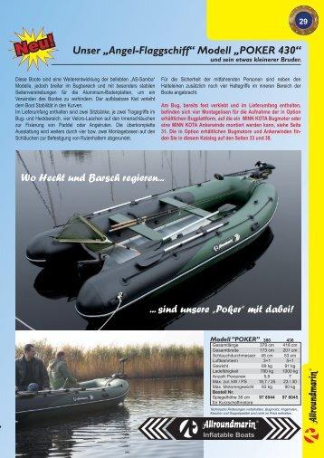 """Unser """"Angel-Flaggschiff"""" Modell """"POKER 430"""" Wo ... - Raubfisch"""