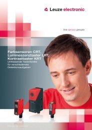 Farbsensoren CRT, Lumineszenztaster LRT ... - Leuze electronic
