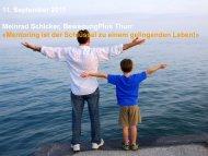 Mentoring ist der Schlüssel zum Leben! - BewegungPlus Thun