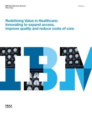 Redefining Value in Healthcare: Innovating to expand access ... - IBM