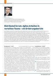 Distributed Scrum: Agiles Arbeiten in verteilten Teams – ein ...