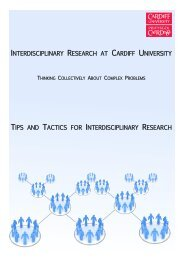 What is Interdisciplinary Research? - Cardiff University