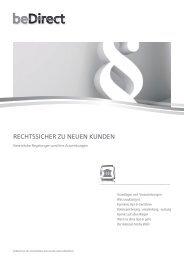 RECHTSSICHER ZU NEUEN KUNDEN - beDirect