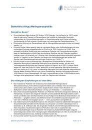 Leitlinie bakterielle Meningoenzephalitis - Deutsche Gesellschaft für ...