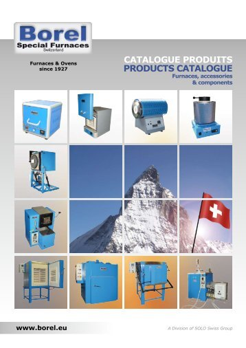 PRODUCTS CATALOGUE - Borel Furnaces & Ovens