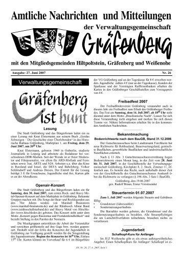 Verwaltungsgemeinschaft - Gräfenberg
