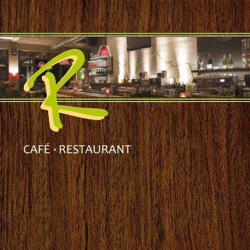 R-Cafe Speisekarte als PDF Download