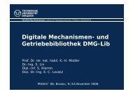 und Getriebebibliothek DMG-Lib