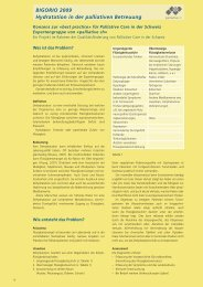 BIGORIO 2009 Hydratation in der palliativen Betreuung - Palliative ch