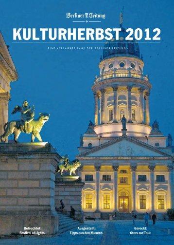 KULTURHERBST 2012 - Berliner Zeitung