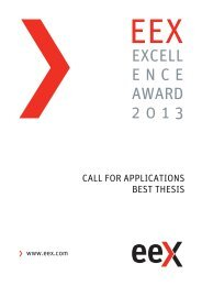 EXCELL ENCE AWARD 2013 - EEX
