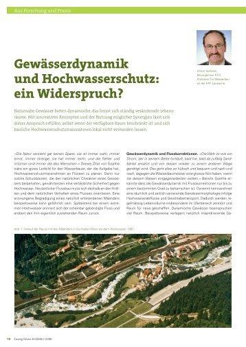 Gewässerdynamik und Hochwasserschutz: ein Widerspruch? - Eawag