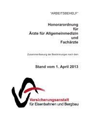 Honorarordnung 2013 - Österreichische Ärztekammer