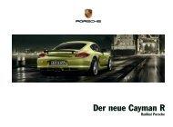 Der neue Cayman R - Porsche