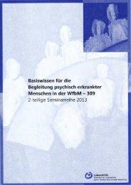 Basiswissen für die Begleitung psychisch erkrankter Menschen in ...
