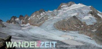 Gletscherperformance Wandelzeit - Schweizer Hütten