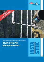 INSTA-STIK PM Perimeterkleber - Dow Building Solutions - The ...