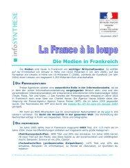 Medias en France (allemand)
