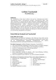 Leitlinie Tauchunfall - DrDive.net