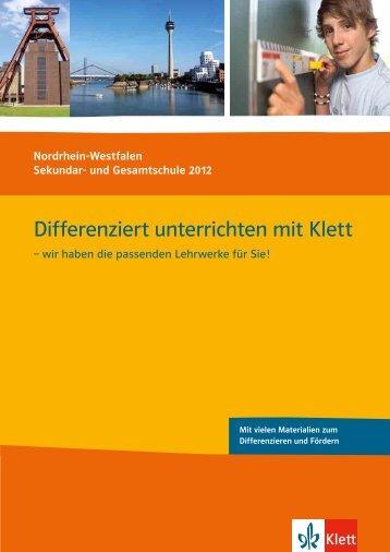 Differenziert unterrichten mit Klett - Ernst Klett Verlag