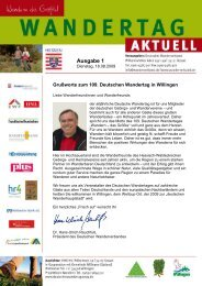 Ausgabe 1 - Deutscher Wandertag 2009