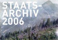 Jahresbericht 2006 - Staatsarchiv