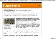 Handelsblatt.com: Der Wettbewerb ist intensiver geworden.