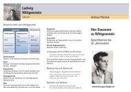 Von Saussure zu Wittgenstein Ludwig ... - Pöschek, Andreas
