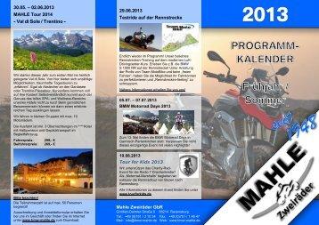 Jahresprogramm 2013 - Mahle Zweiräder Ravensburg