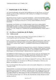 Auszug aus den Schießstandrichtlinien für Luftdruckwaffen ... - BSSB