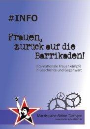 Frauen, zurück auf die Barrikaden - Marxistische Aktion Tübingen