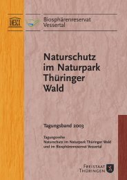 Naturschutz im Naturpark Thüringer Wald - Biosphärenreservat ...