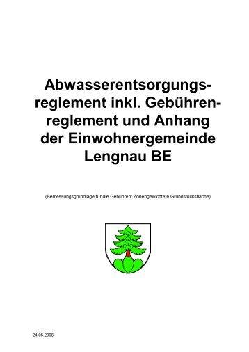 Abwasserreglement - Einwohnergemeinde Lengnau BE