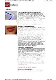 Seite 1 von 2 Merkblatt Positiver Nebeneffekt der Grippeimpfung ...