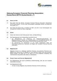 Satzung European Financial Planning Association Deutschland ...
