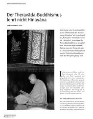 Der Theravada-Buddhismus lehrt nicht Hinayana