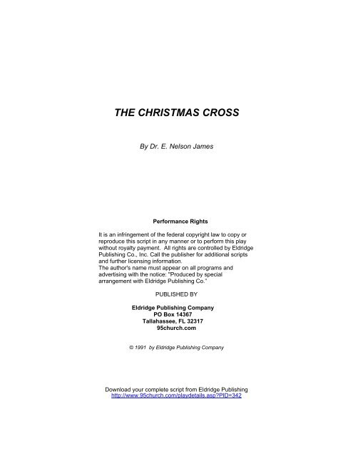 Christmas Plays For Church.The Christmas Cross Eldridge Church Plays And Musicals