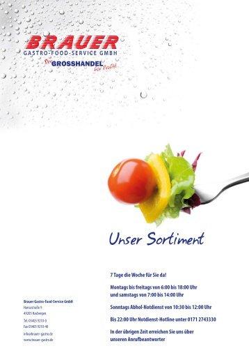 Unser Sortiment - Brauer Gastro-Food-Service GmbH
